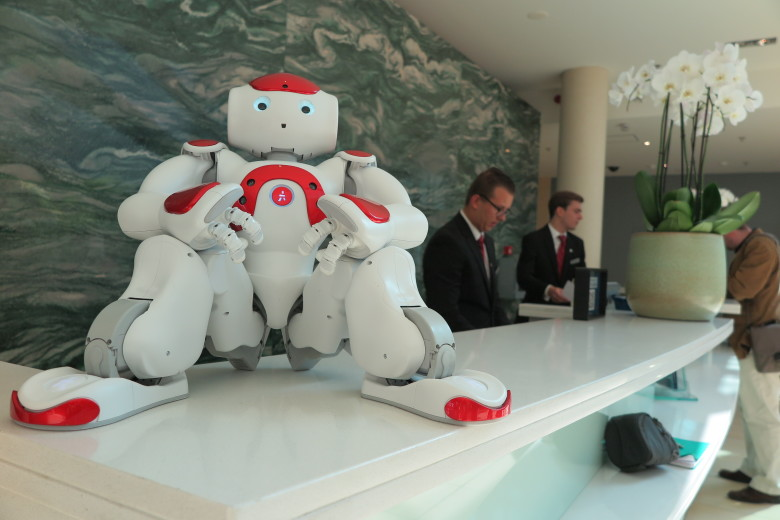 Mario the Robot at Ghent Marriott Hotel