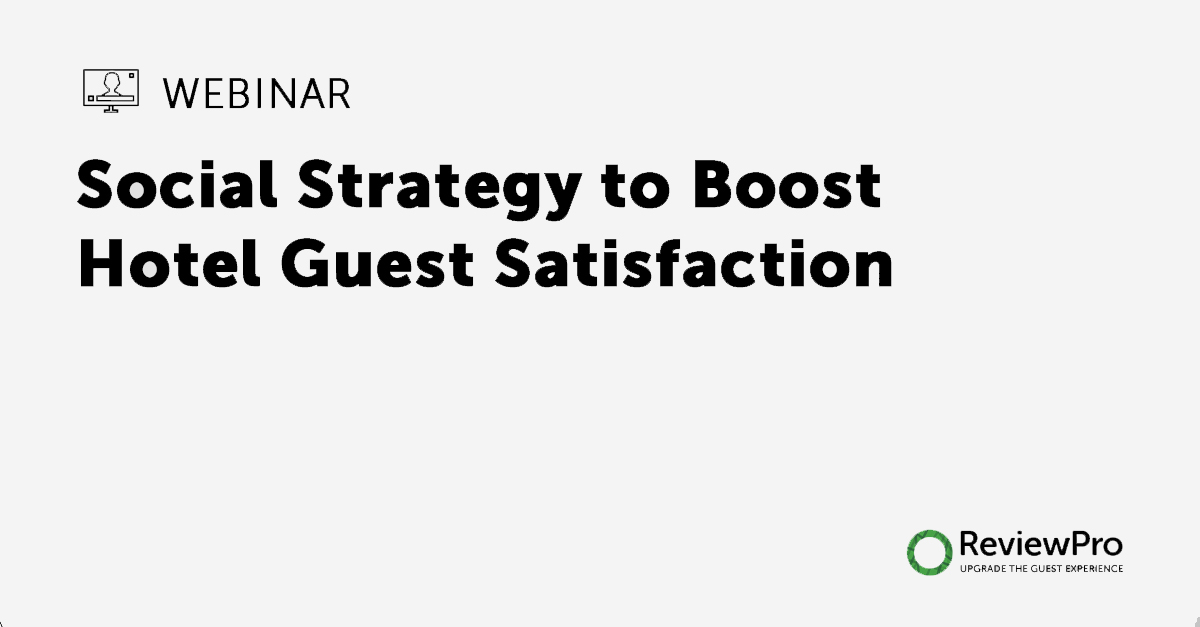 webinar social strategy to boost hotel guest satisfaction