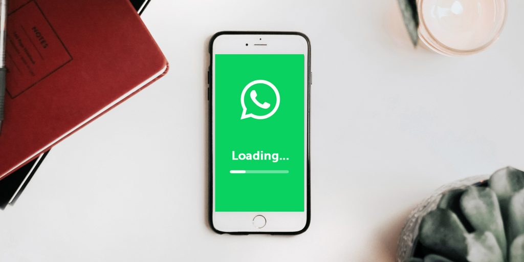 The WhatsApp icon showing the implementation is loading