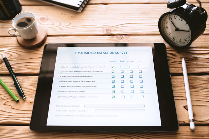 customer satisfaction survey to find NPS in hosptiality