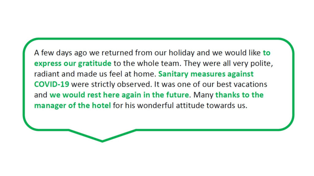 Guest Reviews Example
